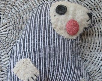 INGA Folk art Scrap Opossum Rag DOLL handmade