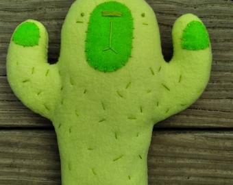 Stuffed plush cactus, green hands up saguaro butt plushie grumpy