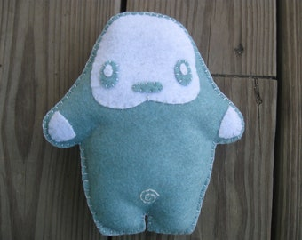SALE handmade Doll little bigfoot Abominable Snowman edition arctic blue