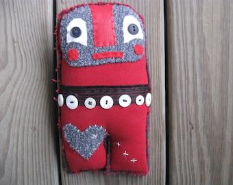Scrappy OTTO rag doll upcycled art doll folk OOAK unusual