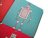 robot graphic mini-mousepad