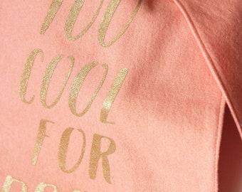 Peach Burp cloth set. Burp cloths girl. Light pink burp cloth. Cute New baby gift. Pink and gold baby gift. Pink baby gift basket items.