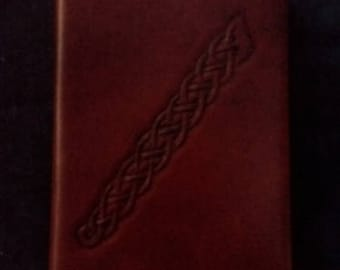 Celtic Leather Pocket Journal Border Pattern from Cross on Man