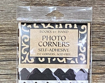 Black photo corners self-adhesive acid-free  252 ct.