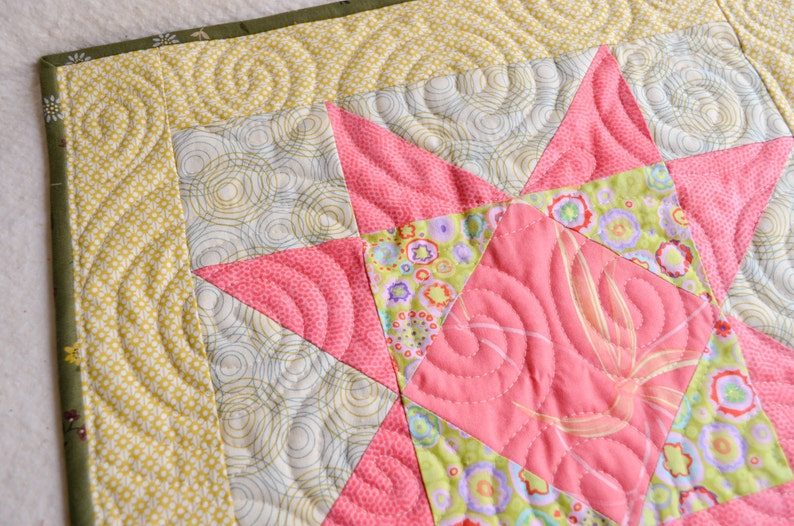 Pink Star Doll/'s quilt