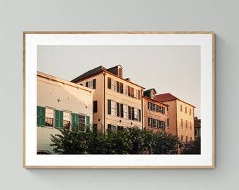 Charleston Art, South Carolina Print, Charleston Sunrise #1, Charleston Photograph, Architecture Photo, Oversized Wall Art, City Print, Bock