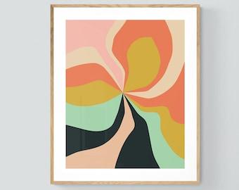 Abstract Print, Retro Print, Vintage Inspired Art, Retro Floral #3, Abstract Art, Mid Century Modern Design, Boho Print, Retro Art, Bock