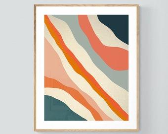 Abstract Print, Modern Art, Minimal Design, Flow, Oversized Decor, Alicia Bock, Abstract Art, Mid Century Design, Boho Print, Line Drawing