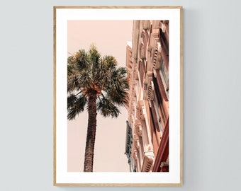 Charleston Art, South Carolina Print, Charleston Palm, Charleston Photograph, Architecture Photo, Oversized Art, Alicia Bock, Pink Art Print