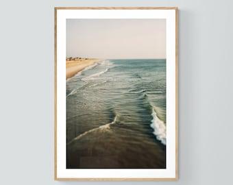 Outer Banks Photo, Beach Photograph, Ocean Print, Carolina Morning, Waves Art Print, Beach Print, Oversized, Surf Art Print, Outer Banks Art