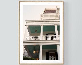 Charleston Art, South Carolina Print, South Battery #1, Charleston Photograph, Architecture Photo, Oversized Wall Art, City Print, Bock