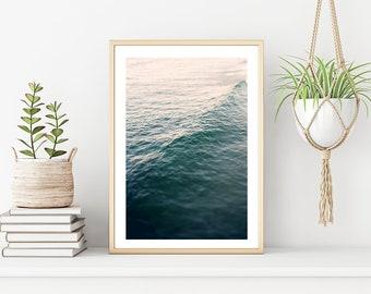 Aerial Ocean Wave Print, Abstract Print, Beach Print, Nautical Decor, Slow Living, Beach Decor, Oversized Coastal Art, Wave Art, Ocean Art