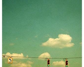 Cloud Photography - Sky Photograph - Nature Photograph - Fine Art Photograph - Go - Alicia Bock - Sky Photography - Green Art - Home Decor