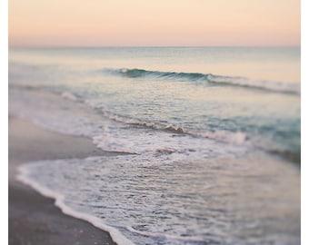 Beach Photograph, Rising Sun, Wave Print, Beach Art, Coastal Art, Florida Photo, Ocean Print, Beach Photo, Coastal Decor, Oversized Art