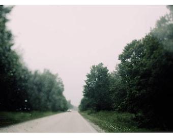 Travel Photograph - Landscape Photography - Street  Photograph - Lights- Bokeh - Fine Art Photograph - Driving Through The August Rain -Bock