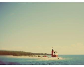 Michigan Art, Mackinac Island Print, Round Island #2, Nautical Decor, Coastal Art Print, Fine Art Photograph,  Lighthouse Art, Pure Michigan