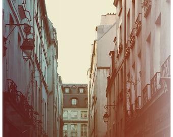 Paris Photograph - Paris Art- French Photography - Lamplight - Fine Art Photograph - Alicia Bock - Pink Art - Blue Print - Paris Print