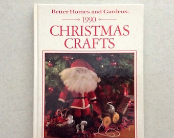 Vintage Better Homes and Gardens, 1990 Christmas Crafts Book, Hardcover