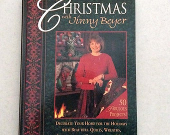 Vintage Craft Book, Christmas with Jinny Beyer, A Rodale Quilt and Craft Book, 1996, Hardcover, 50 Projects
