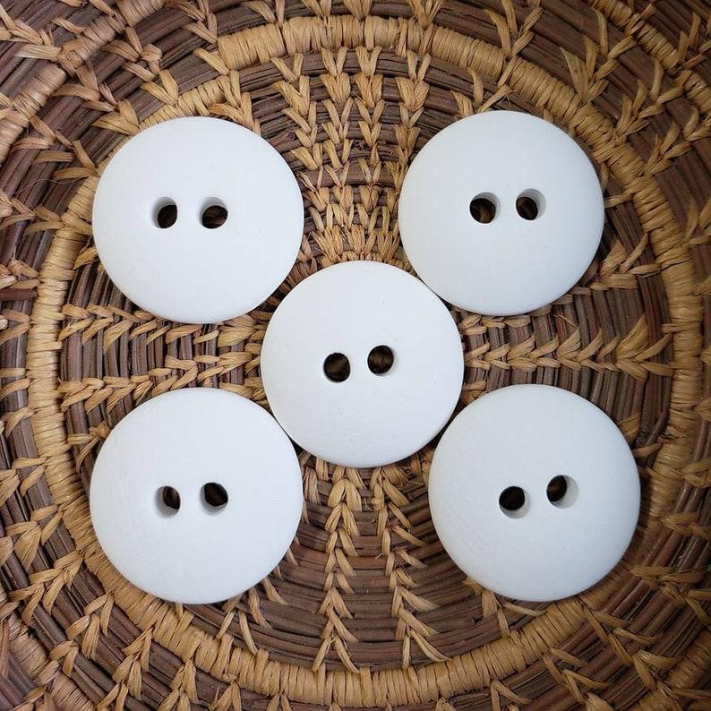Set of 5 Bisque Buttons Porcelain bisque Bisque Button image 0
