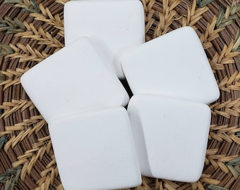 Set of 5 Small Square Bisque Cabochons, Stoneware bisque,Ceramic Bisque Pendant,Square Pendant, Stoneware bisque,Bisque Blanks
