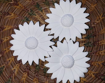 Set of 3 Porcelain Bisque Flowers, bisque blanks, ready to paint, bisque flowers