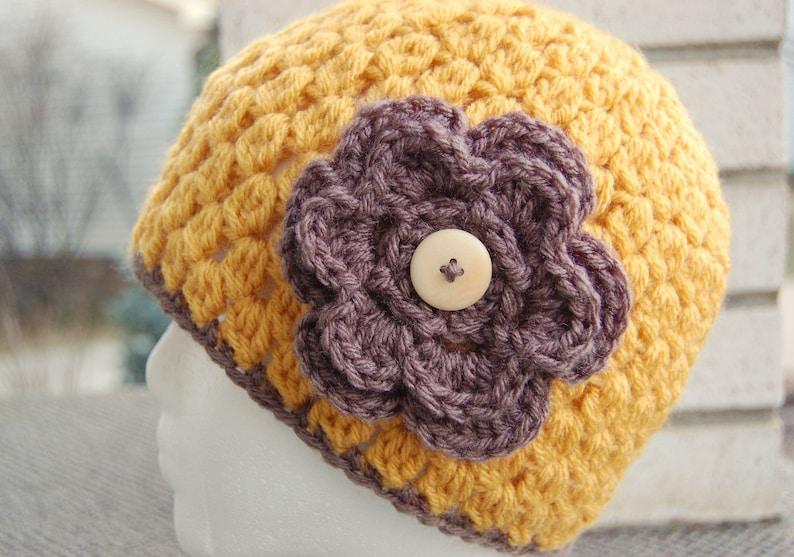 741e31f3e Crochet Hat Pattern - Beanie Cloche with Flower - Jenny Lee. Instant  Download