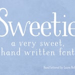 LBSweetie / A very sweet, hand written font / By Laura Bolter Design