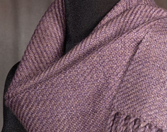 purple-brown tweed scarf / handwoven scarf / winter scarf / man's scarf / woman's scarf
