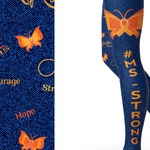 MS Strong Multiple Sclerosis Strong Awareness Leggings -RTS