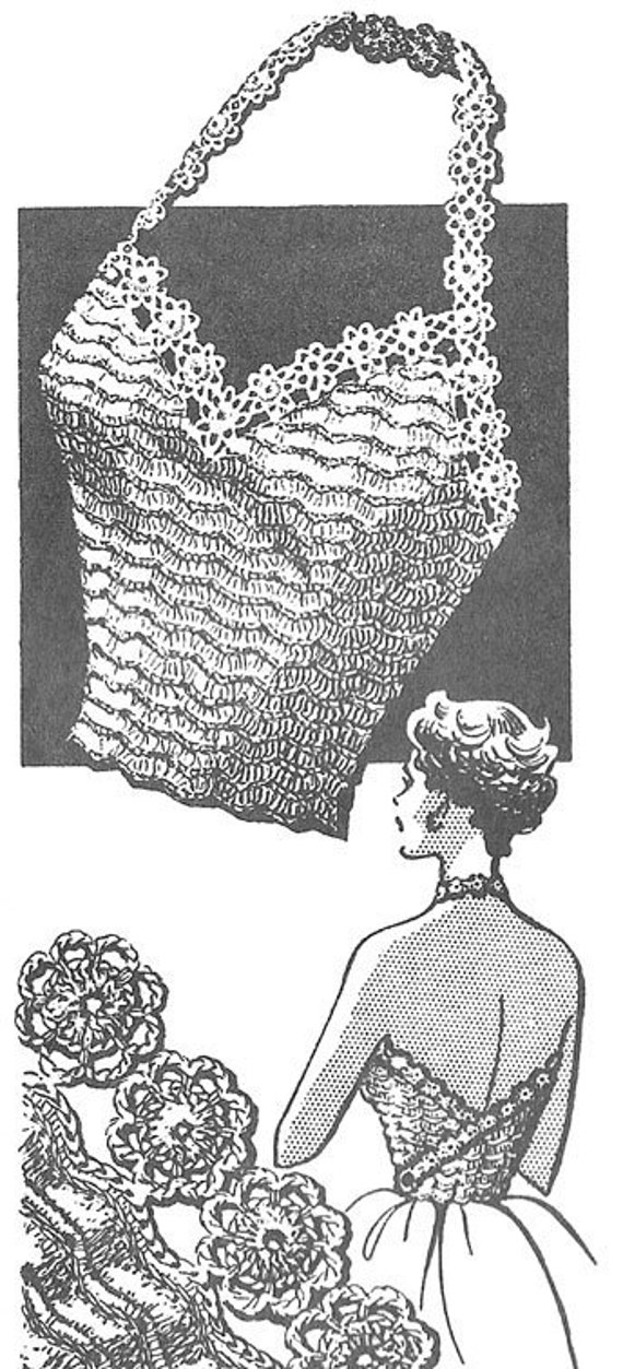 1946 Sexy Halter Top Vintage Crochet Pattern Pdf Instant Etsy