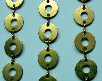 10 Feet Brass Disc Chain
