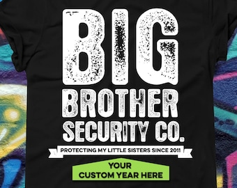 Big Brother Security T-Shirt - Big Brother T-Shirt - Pregnancy Reveal Shirt - Gift for big brother - Pregnancy announcement tee - AR-75