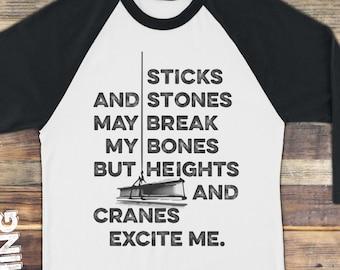 Crane Operator Tshirt | Ironworker Shirt | Welder Shirt | Construction Worker | Trades | Union Thug Tee | Iron Worker | Plus Size Too