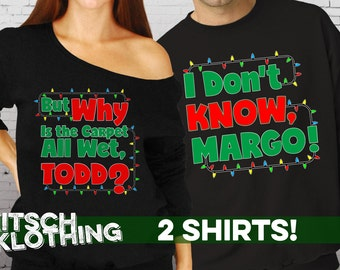 Matching Christmas Shirts - Matching Couples Sweaters - Christmas Vacation Shirts - Crewneck - Hoodie - Slouchy Shirt - Plus Size AR-138-139