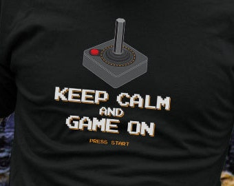 Funny Video Game Gamer Tshirt Geek Nerd Atari 8-Bit T-shirt Gift For Him Tee Shirt For Her Retro Arcade Joystick Lives Boyfriend Girlfriend