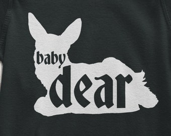 Baby Deer Baby Bodysuit | Dear Baby | Baby Hunter Bodysuit  | Matching Family Tshirts | Deer Hunter | New baby Gift | Baby and Kids | AR-115