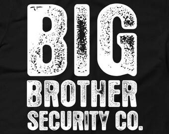 Big Brother T-Shirt - Big Brother Security Shirt - Big Brother Sibling T-shirt - Big Brother Little Sister - CUSTOM YEAR - AR-75