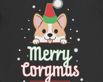 Merry Corgmas | Corgi Christmas | Merry Christmas | Corgi Shirt | Dog Lover | Pembroke Welsh Corgi | Matching Family | PLUS SIZE TOO!