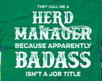 Herd Manager Tshirt | Sheep Farmer Tshirt | Farming Tshirt | Management Tshirt | Manager Tee | Gift for Herd Manager | Plus Size Too | AR-57