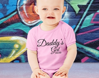 Cute Daddy's Girl Baby Bodysuit Father Daughter Toddler Youth T-shirt Gift For Dad Father's Day Gift Daddy Shower Baby Shower Gift New Dad
