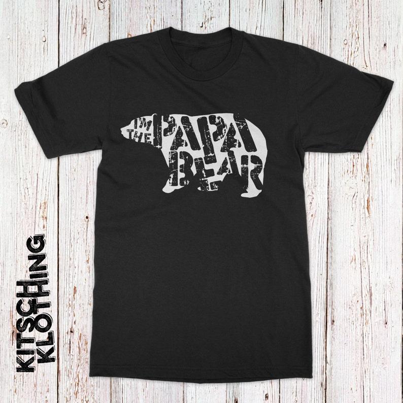9787d5fdb91f2 Papa ours T-shirt Bear T-Shirt je suis le Papa ours de fête