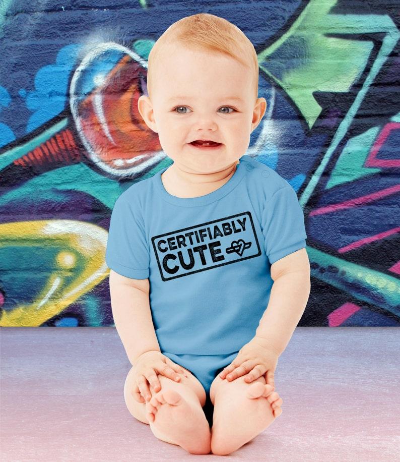Certifiably Cute Baby Bodysuit Cute Halloween Onesie First image 0