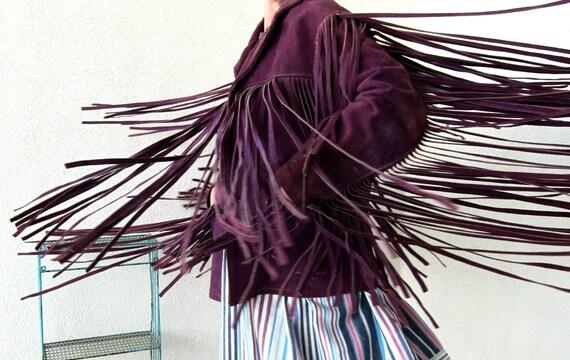 60s Vintage Bold Breed Hippie Freak Jacket Purple