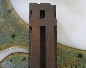 Ligature ff Letterpress Wood Type Printing Block