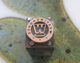 Antique Letterpress Printers Block Westinghouse Electric Logo