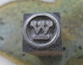 Vintage Letterpress Printers Block Westinghouse Electric Logo