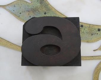 Number Six or Nine Antique Letterpress Wood Type Printers Block Wide 6 or 9