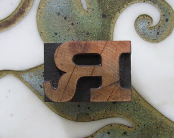 Letter R Antique Letterpress Wood Type Printing Block