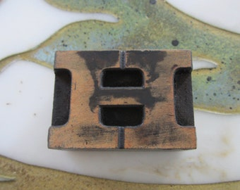 Letter H Antique Letterpress Wood Type Printing Block
